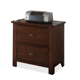 Castlewood Lateral File Cabinet Warm Tobacco finish
