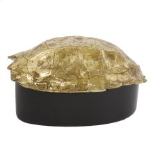 Gold Turtle Shell Decorative Box