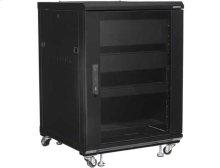 """34"""" Tall AV Rack 15U Component rack for home theater equipment"""