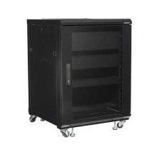 "34"" Tall AV Rack 15U Component rack for home theater equipment"