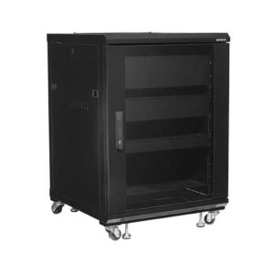 "Sanus34"" Tall AV Rack 15U Component rack for home theater equipment"