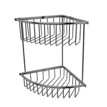 Essentials Corner Double Wire Soap Basket, Large