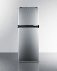 "Counter Depth Frost-free Refrigerator-freezer With Stainless Steel Doors, Black Cabinet, 26"" Footprint, and Left Hand Door Swing"