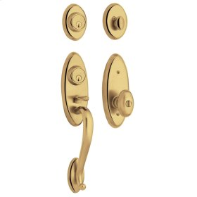 Lifetime Polished Brass Landon Two-Point Lock Handleset