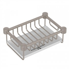 Satin Nickel Perrin & Rowe Holborn Free Standing Soap Basket