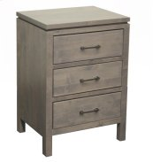 3 Drawer Nightstand - Wide