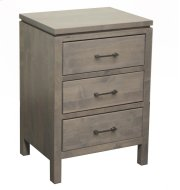 3 Drawer Nightstand - Wide Product Image