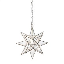 Small Clear Star Chandelier.