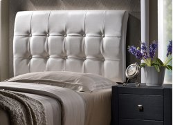Lusso Full Headboard - White Product Image