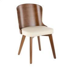Bocello Chair - Walnut Bamboo, Cream Pu