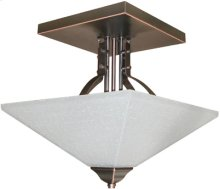 Ceiling Lamp,dark Bronze W/frost Glass Shade,type A 60wx2