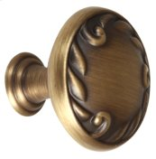 Ornate Knob A3650-14 - Antique English Matte
