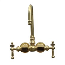 Tub Wall Mount Faucet - Polished Brass