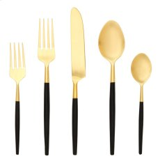 5 Pce - Black/Gold Stainless Steel Cutlery Set Product Image