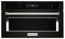 """30"""" Built In Microwave Oven with Convection Cooking - Black Stainless"""