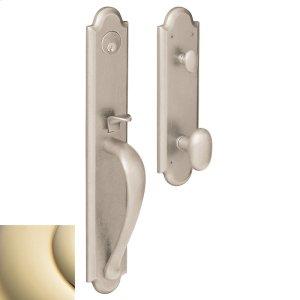 Lifetime Polished Brass Boulder Full Handleset Product Image