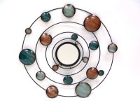 "Round Mirror with Rings-Metal-22""""D Product Image"