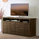 Perspectives - Entertainment File Cabinet - Brushed Acacia Finish Product Image