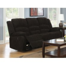 Gordon Chocolate Reclining Sofa