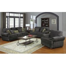 Colton Grey Three-piece Living Room Set