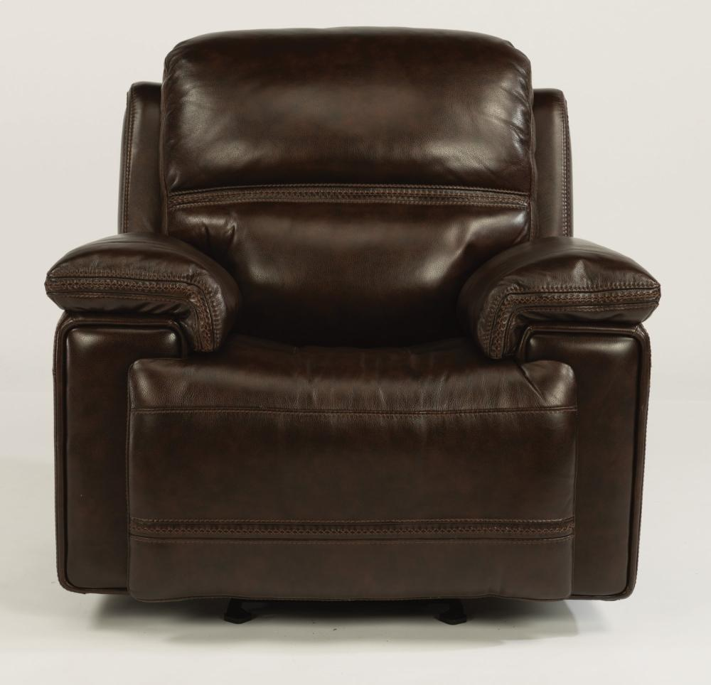 165954PH In By Flexsteel In Warrensburg, MO   Fenwick Leather Power Gliding  Recliner With Power Headrest