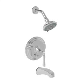 Aged Brass Balanced Pressure Tub & Shower Trim Set