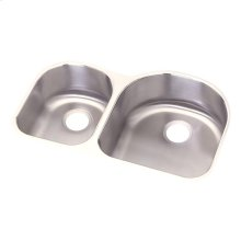 "Dayton Stainless Steel 31-1/4"" x 20"" x 8"", Offset 40/60 Double Bowl Undermount Sink"