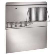 "36"" Backsplash with shelves in Stainless Steel"