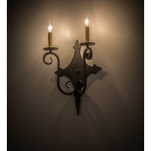 "12""W Angelique 2 LT Wall Sconce"