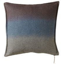 Washed Blue Ombre Stripe Pillow.