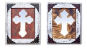 White Cross Mirror Product Image