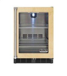 "24"" Custom Panel Undercounter Refrigerator, Clear Glass, Right Hinge/Left Handle"