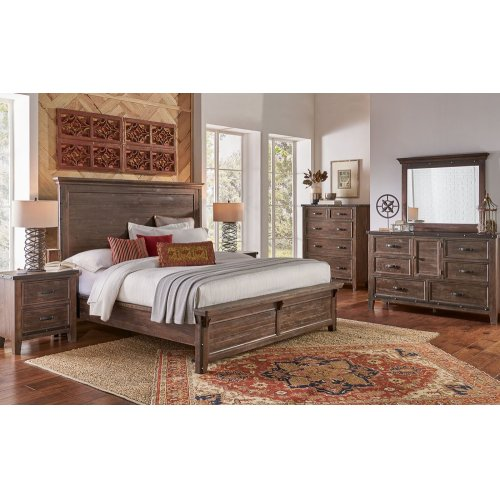 MARQUEZ Cal King Panel Bed