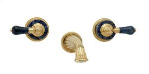 Wall Tub Set Bleu Sodalite - Satin Brass