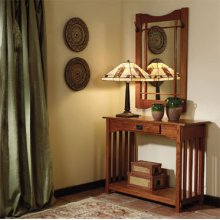 """Mission Oak"" Console & Mirror"
