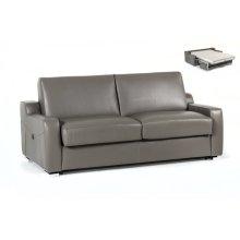 Estro Salotti Dalia Modern Grey Leather Sofa Bed