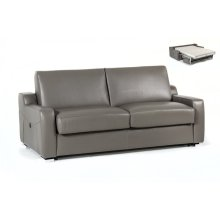 Estro Salotti Dalia Modern Grey Leather Sofa Bed