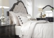 Queen Uph Bed, Dresser & Mirror, NS Product Image