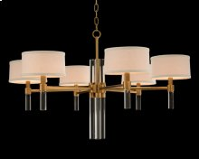 Glass Rod Six-Light Chandelier