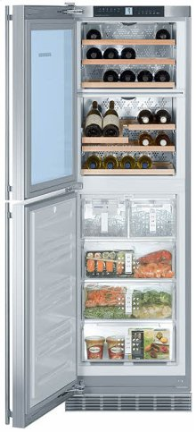 "24"" 2 Temp. Zone Wine Cabinet & Freezer"