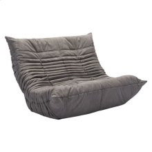 Down Low Loveseat Gray