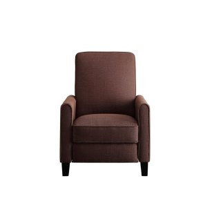 Push Back Reclining Chair, Chocolate