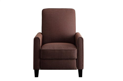 Push Back Reclining Chair, Chocolate