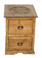 2 Dwr File Cabinet W/ Star Product Image