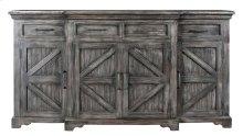 Bengal Manor Mango Wood Breakfront 4 Door 4 Drawer Grey Wash Sideboard