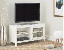 "48"" White Folding TV Console"