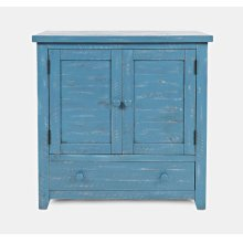 American Folklore Accent Chest - Antique Blue