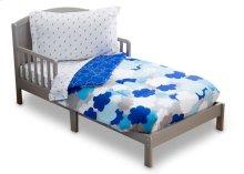 Blue Clouds 4-Piece Toddler Bedding Set - Blue Clouds (2203)