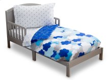 Blue Clouds 4-Piece Toddler Bedding Set - Kid bundle - Blue Clouds (2203)