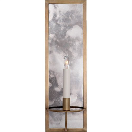 Visual Comfort NW2115HAB Niermann Weeks Regent 1 Light 6 inch Hand-Rubbed Antique Brass with Antique Mirror Sconce Wall Light, Niermann Weeks, Rectangular